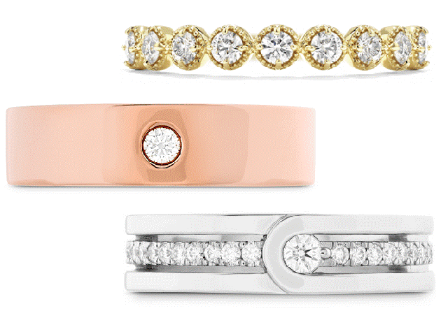 Hearts on Fire Wedding Bands at Dejaun Jewelers