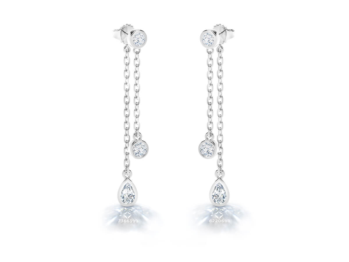 Image of Forevermark Earrings with inscription